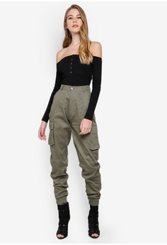 4486dd9e3c1a2 51% OFF MISSGUIDED Plain Cargo Trousers S  52.90 NOW S  25.90 Sizes 6 8 10  14