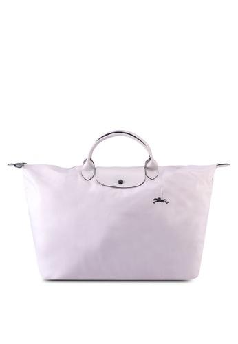 Longchamp white Le Pliage Club Travel Bag L (zt) A4BAEAC7CFFCDCGS_1