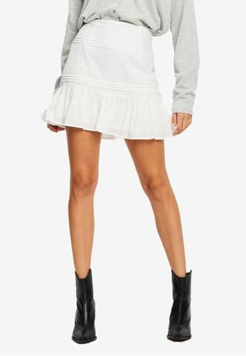 The Fated white Mabel Mini Skirt E0E98AADB93C28GS_1