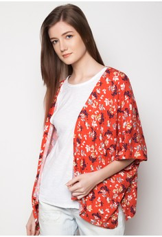 Woven Floral Cover Up
