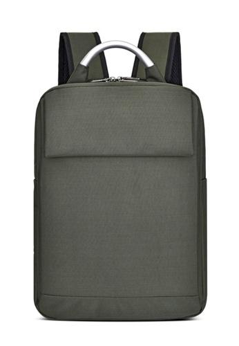 Jackbox Korean Aluminium Handle Velcro Laptop Bag Business Backpack 548 (Army Green) 95E41AC57C2A65GS_1