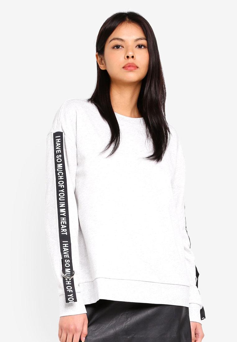ESPRIT Long Sweatshirt Long Sleeve ESPRIT Sweatshirt Sleeve Grey wtaxqzHR