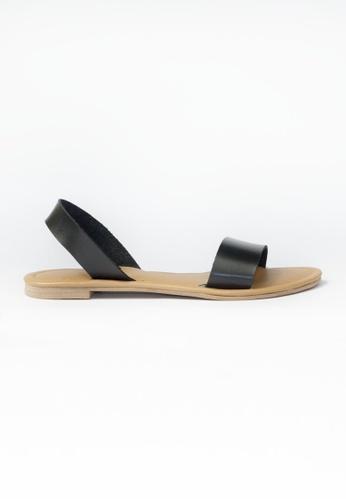 HDY black Atasha Flats Sandals HD484SH06RMJPH_1