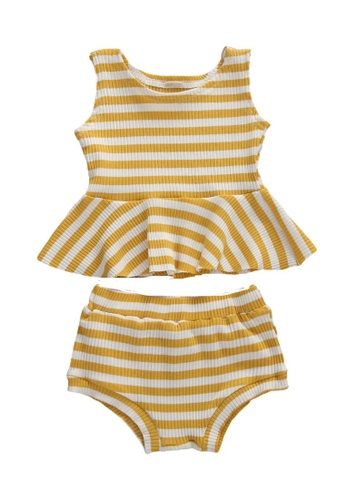 RAISING LITTLE yellow Bella Outfit Set C2F78KAFD2CDCAGS_1