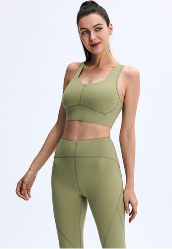 Trendyshop green Quick-Drying Yoga Fitness Sports Bras 4BA85USAFD686BGS_1