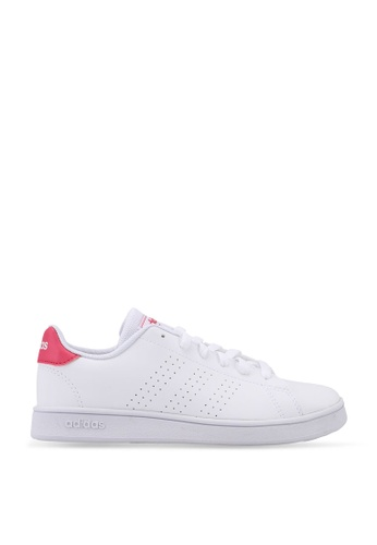 ADIDAS white and pink Advantage Shoes D538CKSCF4301AGS_1