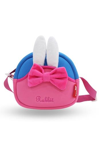 Nohoo pink Nohoo Kids Sling Bag Rabbit (Pink) 66D7AKC1DF9891GS_1