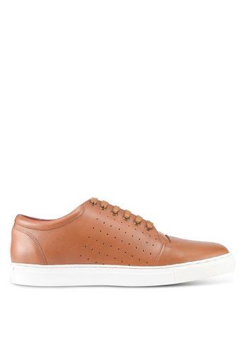 Acuto brown Leather Sneakers AC283SH0SL7MMY_1