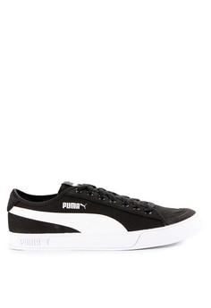 Puma black and multi Puma Smash V2 Vulc CV Shoes ADBABSH10AA5E5GS_1