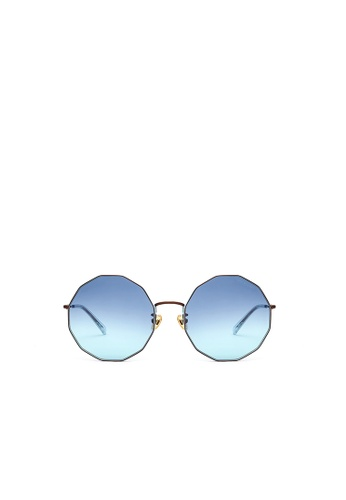 Jill Stuart brown JILL STUART Iris JS10034 Angular Metal Sunglasses 42E73GLB04FF26GS_1