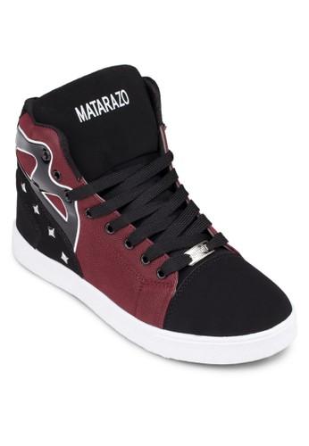 拼色esprit au鉚釘高筒運動鞋, 鞋, 鞋