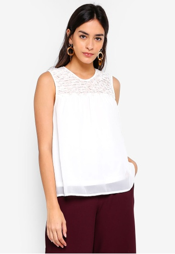 Vero Moda white Julia O-neck Top 97D70AAD323101GS_1