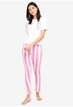 42fcabc0c3a16 MISSGUIDED white I Heart Coffee Long Leg Pj Set 2E70FAA73C59ACGS 1