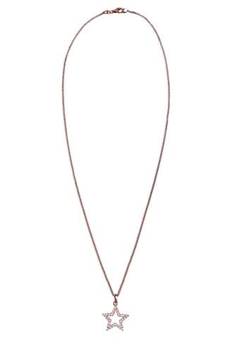ELLI GERMANY gold Necklace Star Crystals Rose Gold Plated EL474AC0SEVBMY_1
