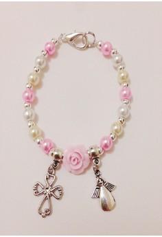 Flower, Cross and Angel Maurica Bracelet