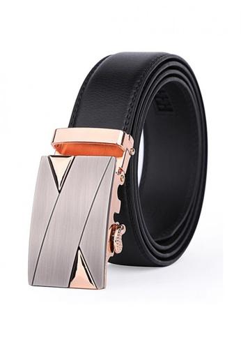 Jackbox black Dante Premium Leather Automatic Buckle Men's Belt 804 JA762AC18MYFMY_1