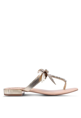 Miss KG gold Palma Flat Sandals 59821SHF306D87GS_1