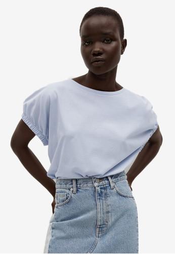 Mango blue Oversize Cotton T-Shirt 75AFEAA619626AGS_1