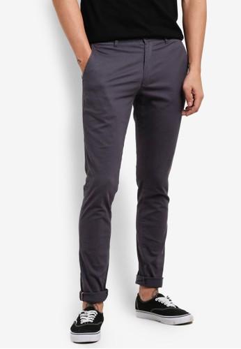 JAXON grey Skinny Fit Chino Pants With Hem Trimming 7CD23ZZ8607F0AGS_1