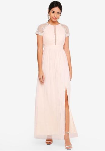 Little Mistress beige Anna Beadwork Maxi Dress 3552DAA9FD8305GS_1
