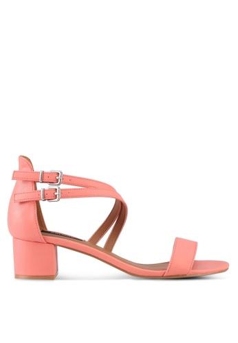 ZALORA pink Multi Cross Straps Heels 53F4ASH01D6456GS_1