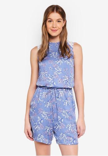 ESPRIT blue Woven Overall Shorts 0117AAA3887E99GS_1