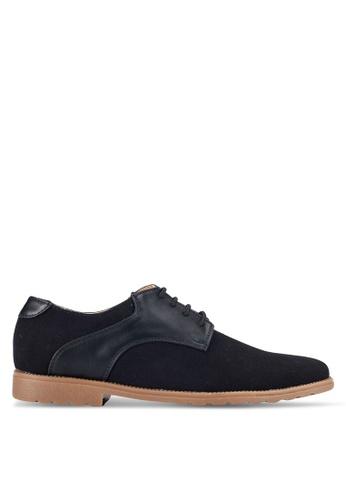 UniqTee black Postman Derby Shoes UN097SH0RFVLMY_1