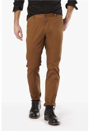 Dockers brown Dockers Alpha Original Slim Tapered Pants Brown DO282AA88CSDSG_1