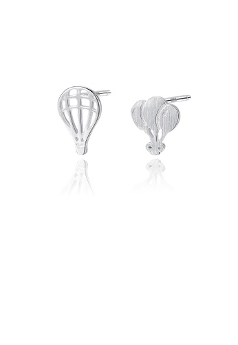 Glamorousky silver 925 Sterling Silver Simple Creative Hot Air Balloon Stud Earrings 1E722AC90152D8GS_1