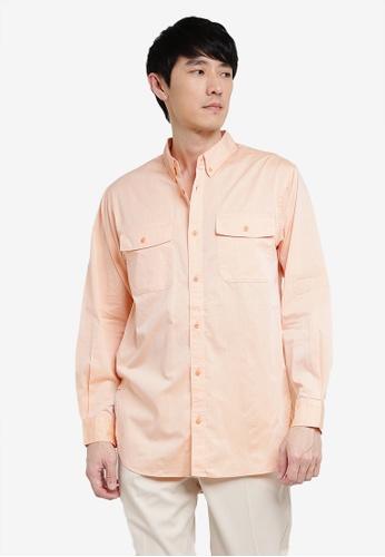 niko and ... orange Plain Shirt 946D7AA2AF4BB2GS_1