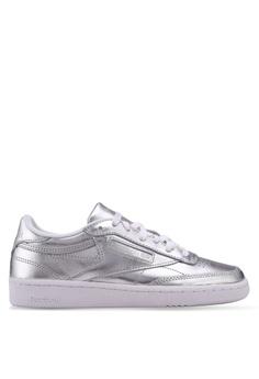 9f90c38c328 Reebok silver Club C 85 S Shine Shoes RE691SH0SVZVMY 1