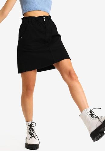 PIMKIE black Button Detail Mini Skirt 96133AAAFA9F24GS_1