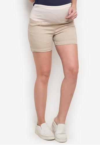 BUNTIS beige Shirley Maternity Shorts BU698AA0JV05PH_1
