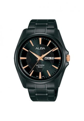 ALBA PHILIPPINES black Black Dial Stainless Steel Strap AJ6093 Quartz Watch 74B8AAC43549A1GS_1