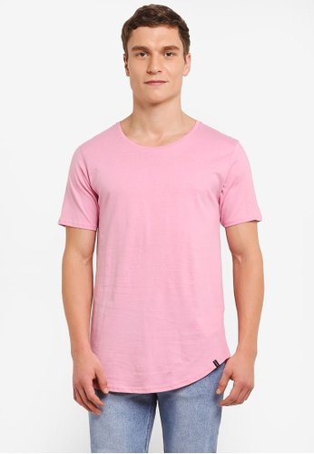 Factorie pink The Curved Tall Tee FA880AA0SAAXMY_1