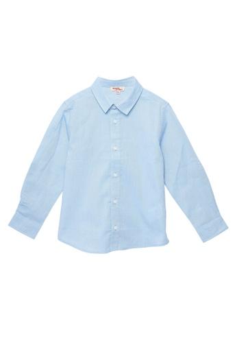 Du Pareil Au Même (DPAM) blue Blue Shirt 7C1A3KAEC6FB35GS_1