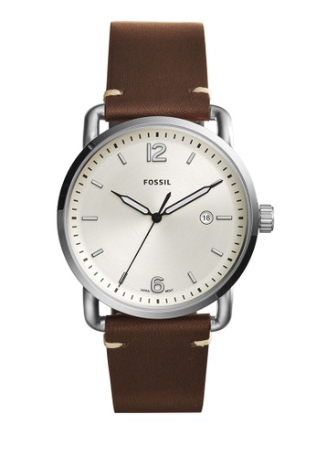 Fossil brown The Commuter 3h Date Analog Watches FO359AC0K93CPH_1