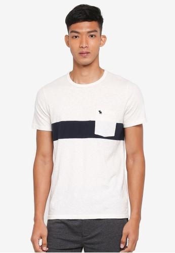 Abercrombie & Fitch white Short Sleeve Stripe T-Shirt DE22AAA4041826GS_1