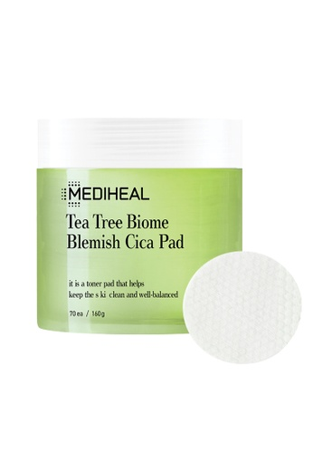 Mediheal green Mediheal Tea Tree Biome Blemish Cica Toning Pad 70pcs 8B485BEDAD6863GS_1