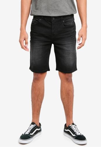 Only & Sons 黑色 修身牛仔短褲 577AAAA2B13478GS_1
