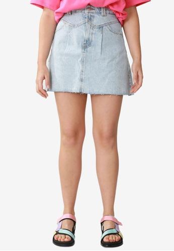 PIMKIE blue Denim Skirt 4C0D2AA6C8F322GS_1