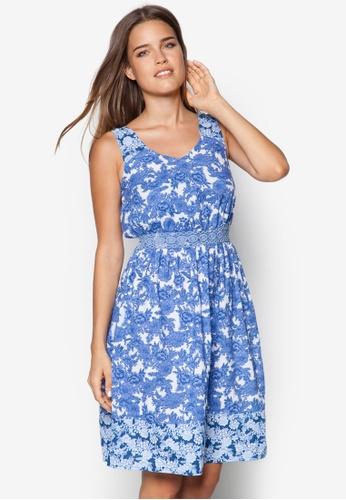 Dorothy Perkins blue Blue Floral Mix 'N' Match Dress DO016AA28VOTSG_1