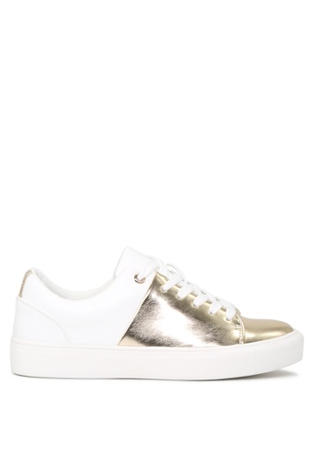 London Rag gold GOLD and WHITE Lace-up Sneakers SH1664 F0925SH1A67F07GS_1