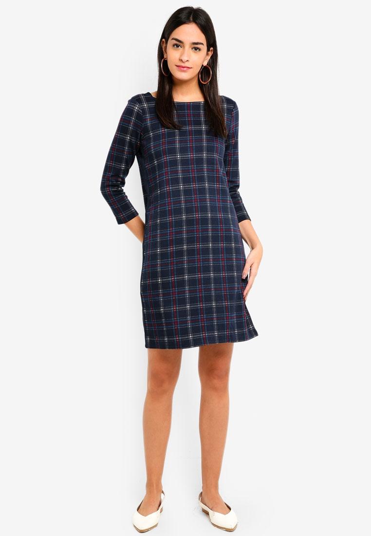 Dress Mini Checkered ESPRIT Navy Dress Mini ESPRIT Checkered zZdqwE