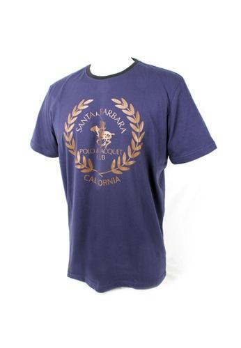 Santa Barbara Polo & Racquet Club navy SBPRC Regular Graphic T-Shirt EF211AA6FEE3A1GS_1