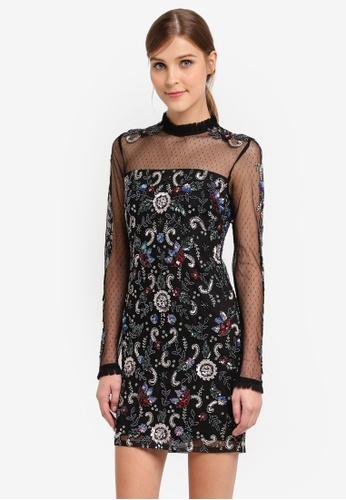 Miss Selfridge multi Embroidered Floral Mini Dress MI665AA0STCHMY_1