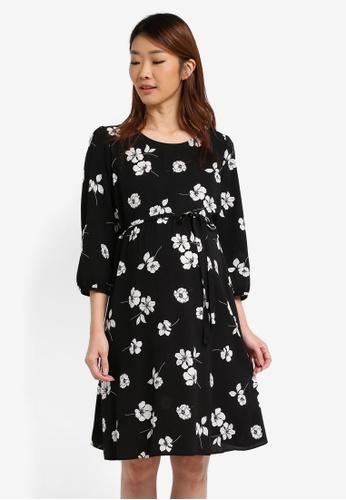 Dorothy Perkins black Maternity Empire Sleeve Dress DO816AA0T063MY_1