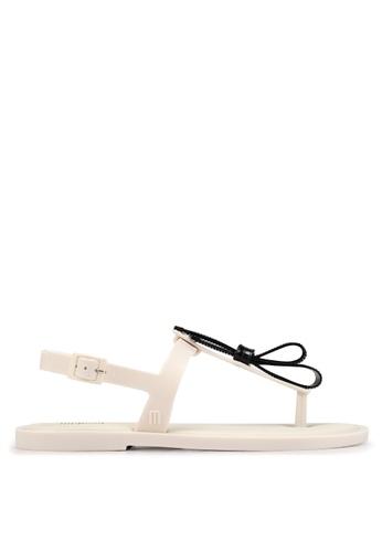 2ce12077057 Melissa beige Melissa Slim Sandal Ad Sandals 45924SHFF359E9GS 1