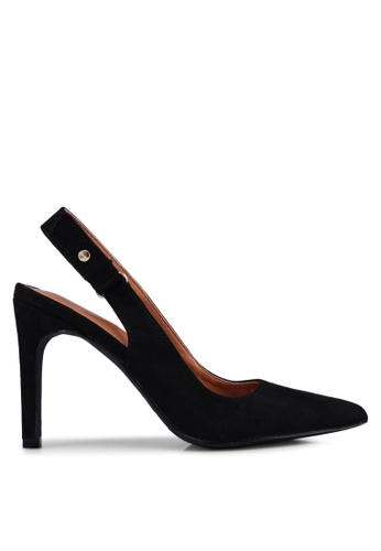 Bata 黑色 麂皮後繞帶高跟鞋 B9DC6SHD6E176AGS_1