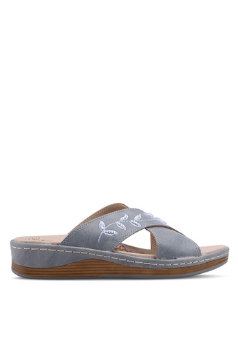 Noveni 藍色 Slide On Sandals 50A6ESH975B5D9GS_1